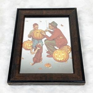 Norman Rockwell Glassiques mirror fall pumpkins